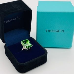 Tiffany & Co Green Quartz Sparkler Ring